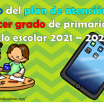 Esbozo del plan de atención para el tercer grado de primaria del ciclo escolar 2021 – 2022