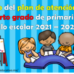 Esbozo del plan de atención para el cuarto grado de primaria del ciclo escolar 2021 – 2022
