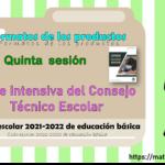 Formatos de los productos de la quinta sesión de la Fase Intensiva del Consejo Técnico Escolar ciclo escolar 2021-2022 de educación básica