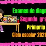 Examen de diagnóstico para segundo grado de primaria del ciclo escolar 2021 – 2022
