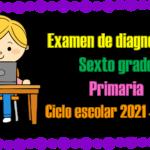 Examen de diagnóstico para sexto grado de primaria del ciclo escolar 2021 – 2022