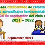 Fabulosos cuadernillos de reforzamiento de los aprendizajes fundamentales del 20 al 24 de septiembre del ciclo escolar 2021 – 2022