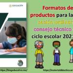 Formatos de los productos para la primera sesión ordinaria del consejo técnico escolar ciclo escolar 2021 – 2022