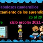 Fabulosos cuadernillos de reforzamiento de los aprendizajes fundamentales del 25 al 29 de octubre del ciclo escolar 2021 – 2022